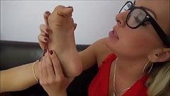 Ariana Marie lesbian foot worship
