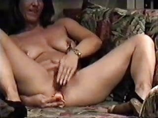 Hidden cam. My kinky mom home alone has fun in living room