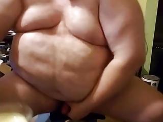 Chub daddy eats his cum