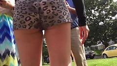 Teen Ass Cheeks in Short Shorts