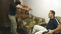 Brazilian Cuckold Fucked In Front Of Husband