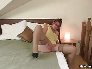 son in law finds busty NOT his mom toying her horny pussy