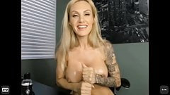 Blonde want jerk you off small show