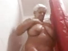Wife having a shower