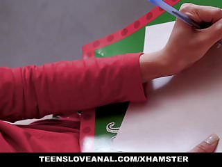 Preview 1 of TeensLoveAnal - Hot Teen Robbed And Fucked During Christmas