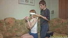 Restrained euro gf banged by big dick