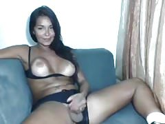 Sweet Sun Kissed Shemale Cums