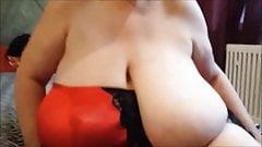 BBW granny shows her fat hangers