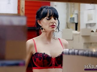 Milf anal virgins - Harmony vision milf anal threesome at the office