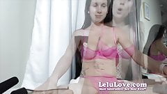 Lelu Love-WEBCAM: Pink Lingerie Heels Cleaning And Masturbat
