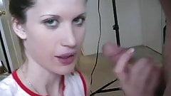 Blowjob from cute amateur girl in hot amateur porn 1