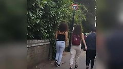 Colombian ass x3 candid.  Smoking and going shopping