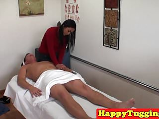 Asian masseuse caught on spycam riding client