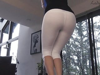 Lady Fyre White Yoga Pants Assworship Tease and Denial