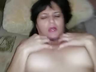 Sex with Mature aunt (Russian homemade porn with dialogue))