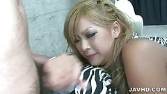 Two dudes giving Rina an awesome threesome fuck