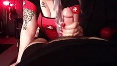 Mistress Handjob Long Red Nails