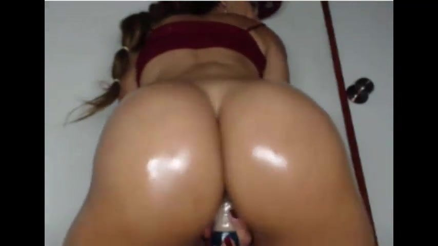 Latina Rides Dildo Bathroom
