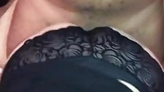 Granny Jan wife in new black panties