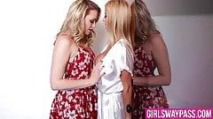 Mia Malkova seduces her big titted stepmom Alexis Fawx