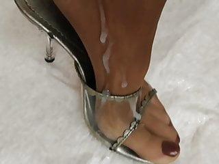 Feet Nylons Cum