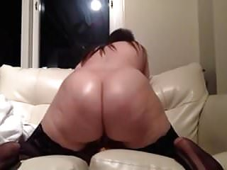 Ultra Thick PAWG Strips And Rides Dildo