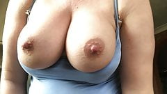 Great tits bouncing as I fuck myself April 2019