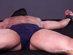 Masked Muscle Stud Tortured BDSM Gay Bondage Electrocution