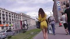 Upskirt On Yellow Girl