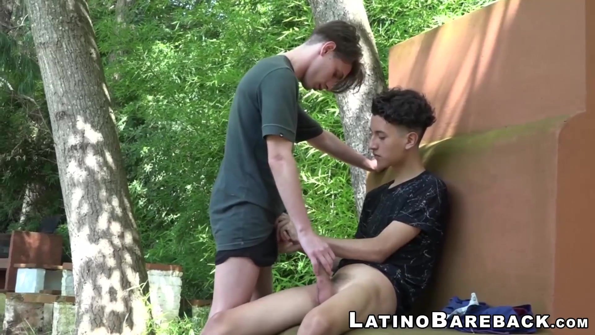 Younger latinos Wilson and Alan barebacking within the woods