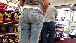 Sexy young tight jeans