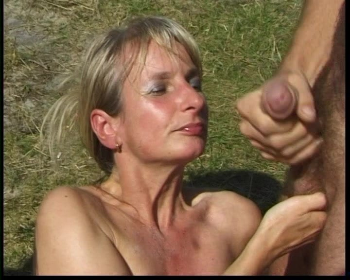 Sexy Long Hair Blonde Blowjob and Cum in Mouth
