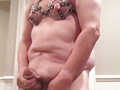Artemus - Crossdressed,Metal Bra, Cock Rings,  Cum
