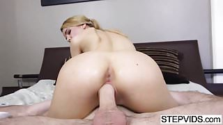 Tiny stepsis Alina West gets wrecked