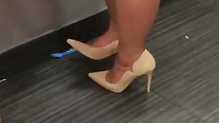 White Heels White Dress