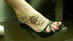 tattoo sexy foot and long legs