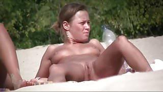 Nude Beach - Hot Russian Teens Spread Wide