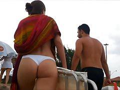 Spy and Voyeur beautiful butt and hot thong bikini