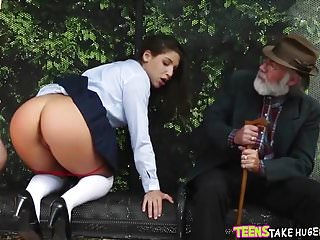 Schoolgirl Fucked at the bus stop
