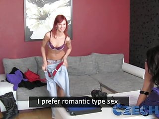 Czech Gorgeous redheads first time with a woman during casti