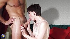 British mom Olivia gets cuni and vaginal sex