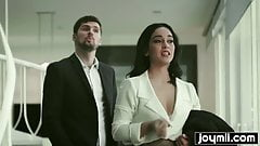 Hot Latina Ginebra Bellucci fucks client and swallow his cum