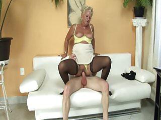 Horny neighbor fucks mature lady!