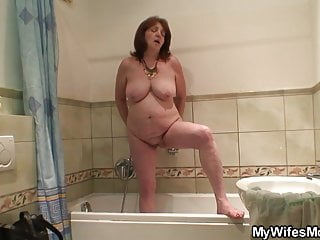 Mother-in-law shower porn