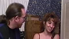 Retro young babe anally drilled by oldguy