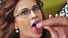Sexy sugar mama on younger dick