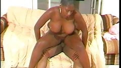 Chubby ebony girl works dick