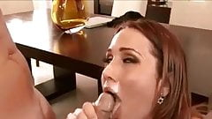 Beautiful milf facial