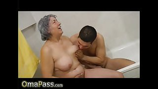 OmaPasS Homemade Lusty Granny Sexual Experience
