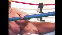 Hot Blondes Wrestling in Ring